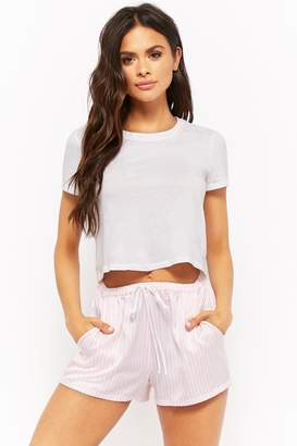 Forever 21 Striped Satin Pajama Shorts