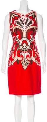 Naeem Khan Embroidered Linen Dress