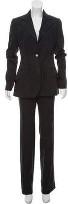 Dolce & Gabbana Pinstripe Mid-Rise Pantsuit