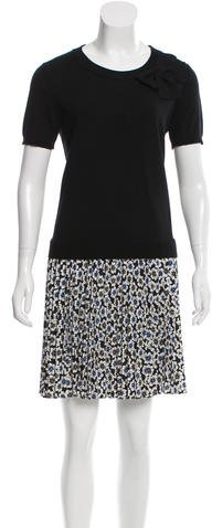 Kate Spade Kate Spade New York Floral Knit-Accented Dress