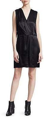 Rag & Bone Rag& Bone Rag& Bone Women's Victor Silk Sleeveless Wrap Dress