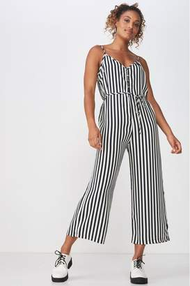 Cotton On Womens Strappy Jumpsuit - Black