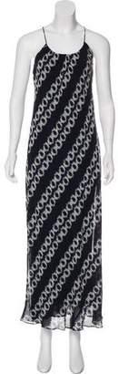 Vince Silk Printed Maxi Dress