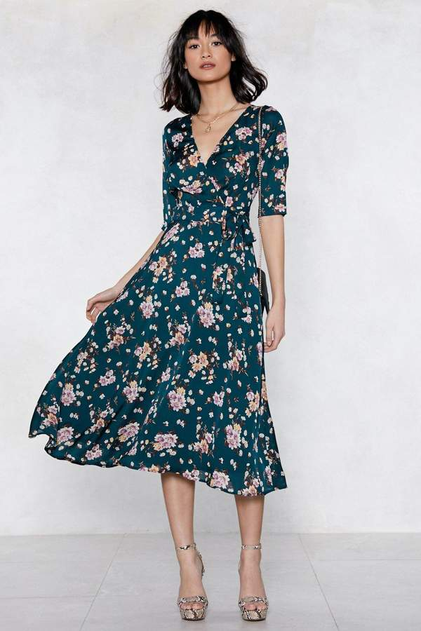 nastygal Grow With Me Floral Dress