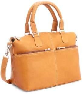 Royce New York Leather Travel Weekender Duffel Bag