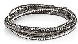 Chan Luu Women's Sterling Silver, Moonstone & Silver Hematine Wrap Bracelet