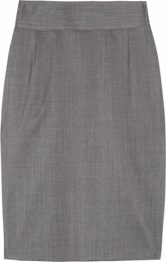 Stella McCartney Alyssa wool-twill pencil skirt