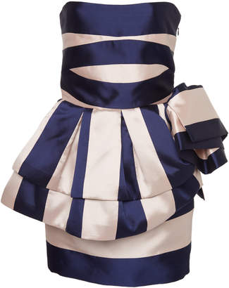 Lula Leal Daccarett Strapless Satin Dress