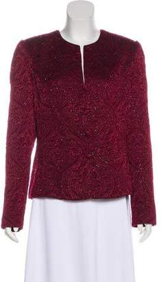 Carmen Marc Valvo Embellished Evening Jacket