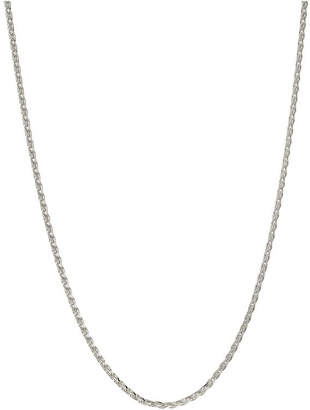 PRIVATE BRAND FINE JEWELRY Made in Italy Sterling Silver 24 Inch Solid Wheat Chain Necklace