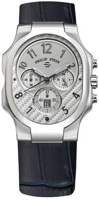 Philip Stein Men's Midsize Classic Quartz Leather Strap Watch $845 thestylecure.com