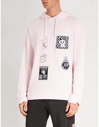 McQ Badge Twisted cotton-jersey hoody