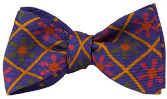 40 Colori - Jeans Blue Propeller Wool & Silk Butterfly Bow Tie