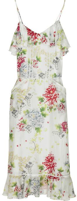 American Retro Kyoto silk-blend dress
