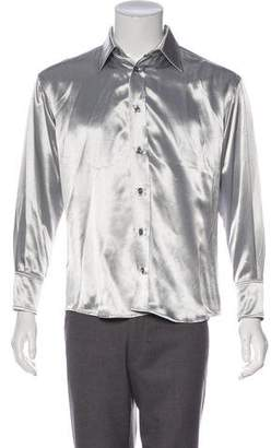 Enfants Riches Deprimes Metallic Satin Shirt