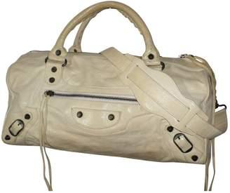 Balenciaga City White Leather Handbag