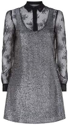 Moschino Layered Metallic Bouclé Dress