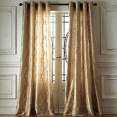 JCPenney Fortune Ivy Grommet-Top Curtain Panel