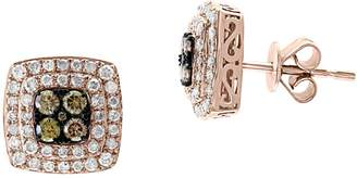 Effy 14K Rose Gold, 0.81 CT. T.W. Espresso Diamond Diamond Stud Earrings