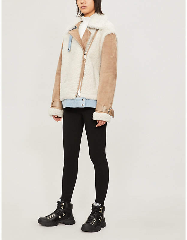 SHOREDITCH SKI CLUB Devonia shearling jacket