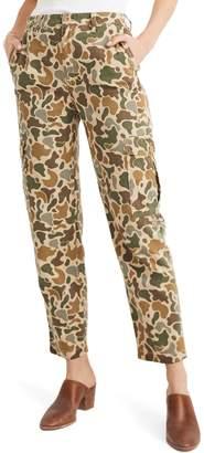 Madewell High Waist Camo Cargo Pants