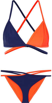 Dion Lee Binary Two-tone Bikini - Navy