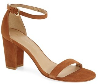 Women's Stuart Weitzman Nearlynude Ankle Strap Sandal $398 thestylecure.com