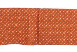 Bacati Arrows Crib/Toddler Tailored with 100% Cotton Percale 13 inch drop Ruffles/Skirt, Orange/White