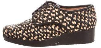 Robert Clergerie Woven Wedge Oxfords