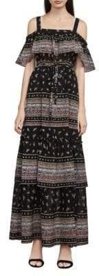 BCBGMAXAZRIA Claudia Cold-Shoulder Maxi Dress