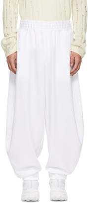 Comme des Garcons White Smooth Balloon Lounge Pants