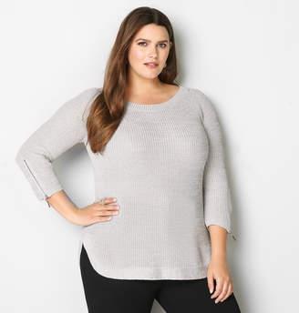 Avenue Zipper Sleeve Sweater