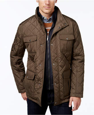 London Fog Men's Corduroy-Trim Layered Quilted Jacket $195 thestylecure.com