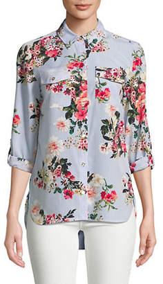 Tommy Hilfiger Floral-Print Button-Down Shirt
