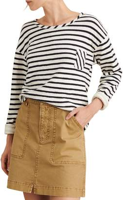 Alex Mill Stripe Pocket Double Knit Pullover