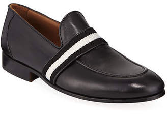 Donald J Pliner Men's Alvino Web Leather Loafer