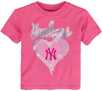 New York Yankees Outerstuff Unfoiled Love T-Shirt, Toddler Girls (2T-4T)