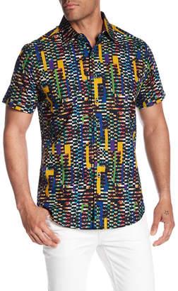 Robert Graham Fergus Falls Short Sleeve Print Woven Classic Fit Shirt