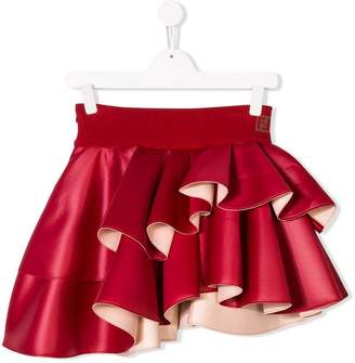 Fendi TEEN asymmetric ruffled skirt