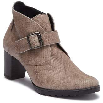 Mephisto Jinny Snake Embossed Leather Bootie
