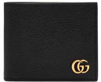 Gucci Gg Marmont Grained Leather Bi Fold Wallet - Mens - Black