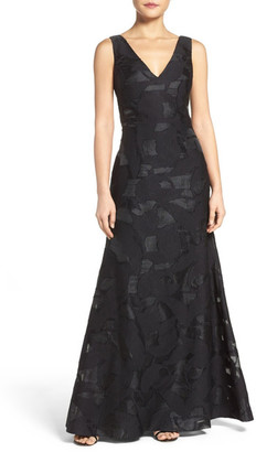 Vera Wang Cutout Back Embroidered Gown $368 thestylecure.com