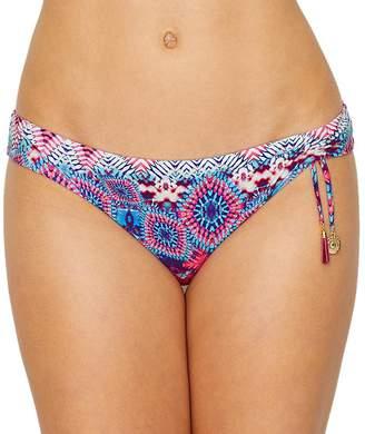 Chantelle Evissa Sunset Tunnel Bikini Bottom, M, Hippie Blue/Pink