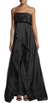 Donna Karan Strapless Evening Gown