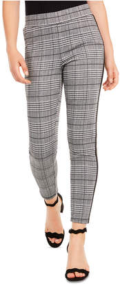 American Rag Juniors' Side-Stripe Plaid Skinny Ankle Pants
