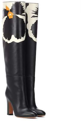 Valentino Bloomy leather boots