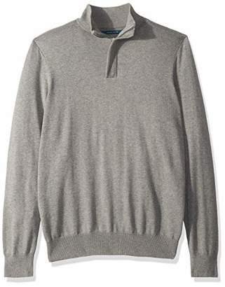 Perry Ellis Men's Solid Mock Sweater
