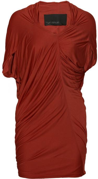Yigal Azrouël Asymmetric jersey mini dress