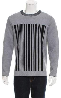 Alexander Wang Crew Neck Barcode Pattern Sweater