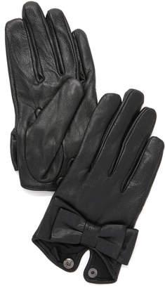 Carolina Amato Bow Snap Gloves